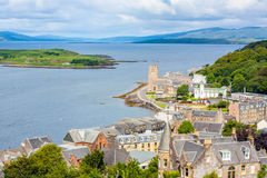 Panorama of Oban, a resort town within the Argyll and Bute council area of Scotland. Stock Photography