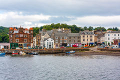 Panorama of Oban, a resort town within the Argyll and Bute council area of Scotland. Stock Photo