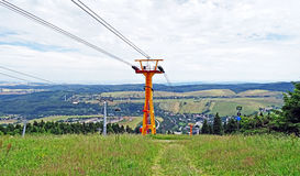 Panorama of Oberwiesenthal in the Erzgebirge Royalty Free Stock Images
