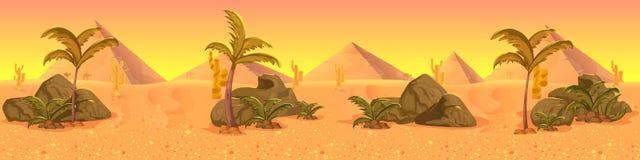Panorama occidental sauvage de paysage de désert Photographie stock
