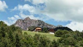 Panorama occidentale della montagna delle alpi Immagine Stock Libera da Diritti