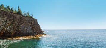 Panorama of ocean shore Royalty Free Stock Image