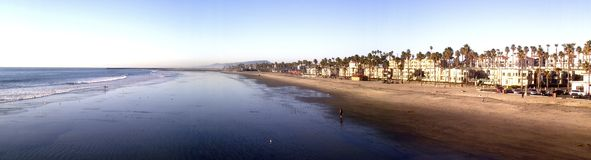 Panorama of Oceanside Beach Stock Photography