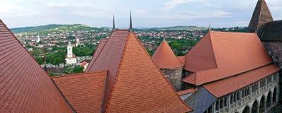 Panorama- och flyg- sikt för tak, av en del på Corvinsen ca arkivbilder