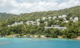 Panorama of Ocho Rios, Jamaica Stock Photos