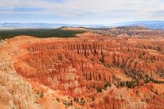Panorama od Bryka jaru parka narodowego, usa Zdjęcie Stock