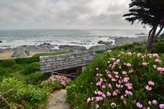 Panorama od Casa De Isla Negr domu muzeum Pablo Neruda Isla Negr Chile zdjęcia stock
