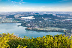 Panorama od Dzielnicowego Parkowego Campo dei Fiori Varese Fotografia Royalty Free