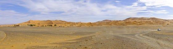 Panorama od erga Chebbi pustyni Maroc Afryka Obraz Stock