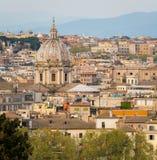 Panorama od Gianicolo tarasu z kopułą Sant «Andrea della Valle kościół w Rzym, Włochy fotografia royalty free