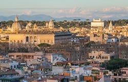 Panorama od Gianicolo tarasu z Palazzo Farnese w Rzym, Włochy obraz royalty free
