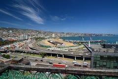 Panorama od mirador Baron valparaiso Chile Obrazy Royalty Free