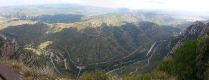 Panorama od Montserrat góry w Hiszpania zdjęcia stock