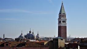 Panorama od najwyższego piętra Scala Contarini Del Bovolo obrazy stock