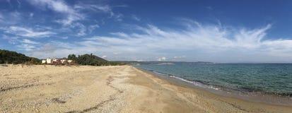 Panorama od plaży w Agios Nikolaos Zdjęcia Royalty Free