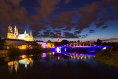 Panorama od Poznan i Polen Fotografering för Bildbyråer