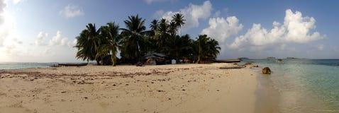 Panorama od San blas wysp Zdjęcia Stock