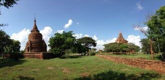 Panorama od Ywa Haung Gyi świątyni Obrazy Royalty Free