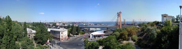 Panorama of Odessa. View of bridge in Odessa (Ukraine Royalty Free Stock Photography