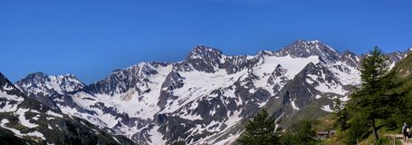 Panorama of the Oetztal Alps Royalty Free Stock Image