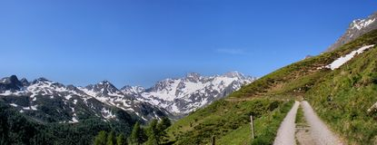 Panorama of the Oetztal Alps Stock Images
