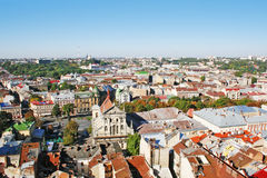 Free Panorama Of A City Of Lvov Royalty Free Stock Photography - 16295347