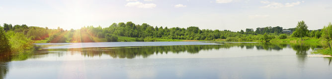 Panorama Of A Summer Landscape Stock Image