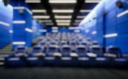 Panorama Of An Empty Cinema Hall As Creative Abstract Blur Background Royalty Free Stock Photos