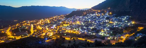 Free Panorama Of Blue City Chefchaouen, Morocco, Africa Stock Images - 119686194