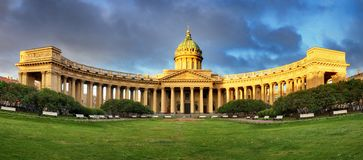 Free Panorama Of Cathedral Of Our Lady Of Kazan, Russian Orthodox Church In Saint Petersburg Stock Photo - 141739180