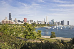 Panorama Of Chicago Royalty Free Stock Photos