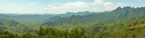 Panorama Of Chinese Mountains Royalty Free Stock Image