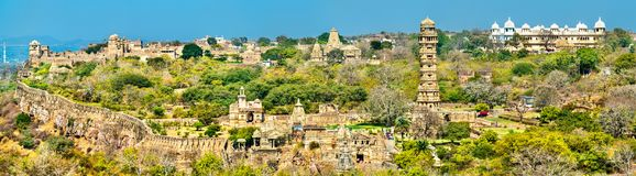 Free Panorama Of Chittor Fort, A UNESCO World Heritage Site In Rajasthan, India Royalty Free Stock Photography - 113133627