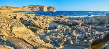 Free Panorama Of Dwejra Coast, Gozo, Malta Stock Images - 129852014
