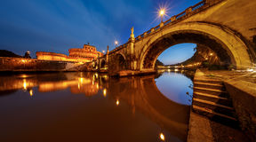 Free Panorama Of Holy Angel Castle And Holy Angel Bridge Stock Photos - 35667423