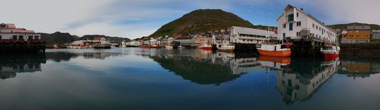 Panorama Of Honningsvag Stock Photography