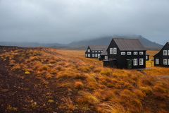 Free Panorama Of Iceland, The Harsh Weather, Mountains And Black House Royalty Free Stock Photo - 100322525