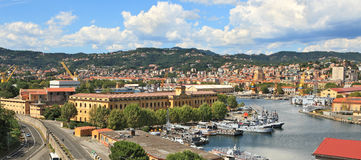 Panorama Of La Spezia And Naval Base. Royalty Free Stock Photo
