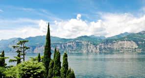 Panorama Of Lake Garda From Malcesine Town Stock Image