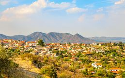 Free Panorama Of Lefkara, Traditional Cypriot Village With Red Rooftop Houses And Mountains In The Background, Larnaca District, Cyprus Royalty Free Stock Images - 163628799