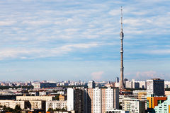 Panorama Of Moscow With TV Tower Stock Image