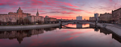 Free Panorama Of Moskva River Embankment And White House In The Morni Stock Photos - 91673053