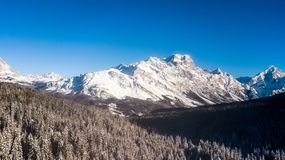 Free Panorama Of Mount Faloria. Aerial Picture In Cortina D`ampezzo, Royalty Free Stock Photos - 112645448