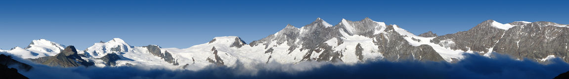 Free Panorama Of Mountains In Valais, Switzerland Stock Images - 15307784