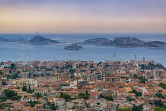 Free Panorama Of Old Marseille City, Famous If Castle And Frioul Islands Stock Images - 164929344