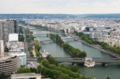 Panorama Of Paris. View From Eiffel Tower Stock Photo