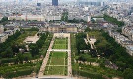 Panorama Of Paris. View From Eiffel Tower Stock Photos