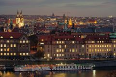 Free Panorama Of Prague, At Sunset - Picture Taken On The Letna Hill - Czech Republic Royalty Free Stock Image - 143900696
