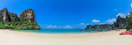 Panorama Of Railay Beach Stock Photo