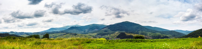 Free Panorama Of Rural Fields In Mountains Stock Photos - 82296793